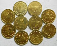 Lot of ten (10) Glendale, Arizona transit tokens - AZ280A