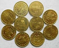 Lot of 10 Glendale, Arizona transit tokens - AZ280A