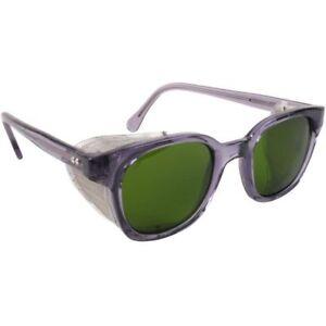 Bouton Traditional Safety Glasses Smoke Frame Mesh Side Shields IR 3.0 Lens