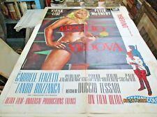 MEGLIO VEDOVA manifesto 2F originale 1969 V. LISI L. BUZZANCA