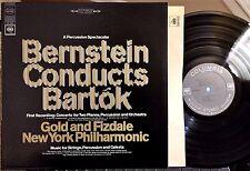 Bernstein Conducts Bartok LP (Gold & Fizdale, NY Philharmonic) Columbia,1967  EX