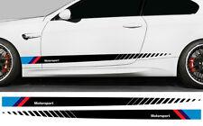 2 X BANDES RACING POUR BMW MOTORSPORT M AUTOCOLLANT STICKER AUTO BD592