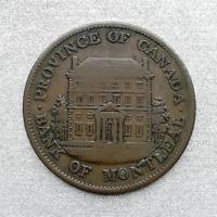 🇨🇦 1842 CANADA HALF PENNY MONTREAL BANK TOKEN