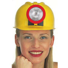 Miner Hard Hat With Light Up Lamp Mining Costume Helmet Adult Youth Construction