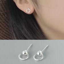 Kleine Ohrstecker Kreis Kugel echt Sterling Silber 925 Damen Mädchen Ohrringe