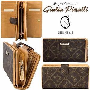 Damen Geldbörse Giulia Pieralli Geldbeutel Brieftasche Portmonee 5003 BraunXXL😍
