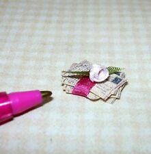 Miniature Antique Love Letters Tied w/Silk Ribbon #2:  DOLLHOUSE 1/12 Scale