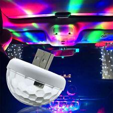 1PCS Car LED USB Atmosphere Light DJ RGB Mini Colorful Music Sound Lamp Phone