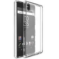 """2x Cover Custodia Trasparente Slim Tpu Per  Sony Xperia Z5 Premium 5,5"""""""