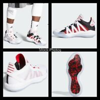 NEW Adidas Dame 6 Shoes EH2069 White Scarlet Red Black Men's Sz 10 Women's Sz 11