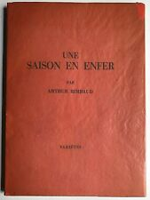 Rimbaud Saison en Enfer, Arthur Rimbaud.Literatur, Französische Literatur