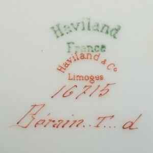 HAVILAND LIMOGES  green mark Berain COVERED ROUND VEGETABLE BOWL Art Nouveau