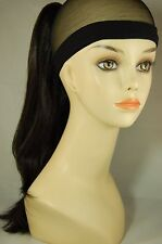 """Hairpiece Clip-on Off Black #1B-- by Mona Lisa 18"""" Synthetic"""