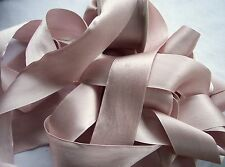 "100% PURE SILK SATIN RIBBON [36MM] 1 1/2"" WIDE BLUSH/BISQUE  3 YDS ~ LIMITED ~"