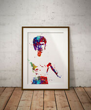 Bruce Lee print, poster, prints, posters, watercolour, wallart, gift, gifts