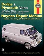 Haynes DODGE VAN 71-03 SPORTSMAN Owners Service Repair Workshop Manual Handbook
