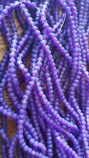 Sea Glass Beads 4mm  dark purple /clear lot of 20 strands /100 per strand
