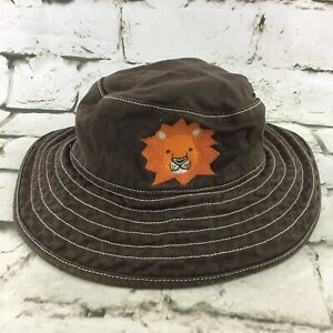Gymboree 12-24mos Hat Brown Bucket Lion Sun Cap 100% Cotton