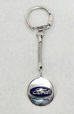 SILVER COLOR FORD AUTOMOBILE EMBLEM KEY CHAIN