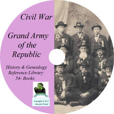 Civil War GRAND ARMY OF THE REPUBLIC - History & Genealogy - 54 Books on DVD CD