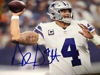 Dak Prescott Autographed 8 X 10 Dallas Cowboys Photo COA CERTIFIED
