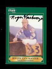 ROGER VANHOOZER Bluefield, Waterford WV *DECEASED* Horse Jockey 1991 SIGNED Card