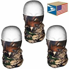 3 LOT QUICK DRY FACE MASK Real Tree Camo Camouflage HUNTING HAT MICRO FIBER CAP!