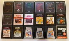 Atari 2600 Video Game Cartridges-  You Pick - US Seller