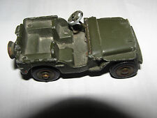 RARE DINKY 829 ARMY JEEP, FOR RESTORE OR AS IS MADE IN FRANCE BY MECCANO