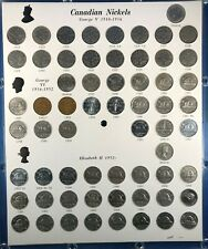 "Complete Set (1922-1975) Canada Nickels in Capital ""Comet"" Holder (62 coins)"