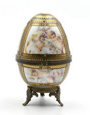 Meander BV boîte oeuf porcelaine angelots hollande earthenware box egg