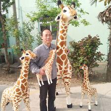 Big Giraffe Plush Toy Pop Soft Stuffed Giant Emulational Animal Giraffe Kid Doll