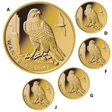 Deutschland 5 x 20 Euro 2019 - Wanderfalke - Satz - A-D-F-G-J - 19,45 gr Gold ST