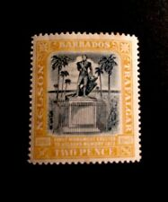 Barbados SG161 Black And Yellow Lightly Mounted Mint 1907