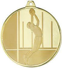 AFL Footy embossed 50mm Diameter Medal Inc Neck Ribbon / Engraving