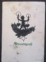 Erbe ! besondere AK Rar aus 1930 ! Adventsgruß von Plischke  gelaufen !