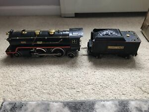 LIONEL LINES PREWAR STANDARD GAUGE 390E BLACK STEAM LOCOMOTIVE TRAIN WITH TENDER