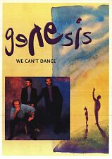 "MUSIC POSTER~Genesis We Can't Dance Phil Collins Members 1991 24x34"" 1991 NOS~"