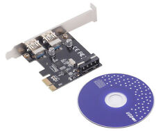Hot PCI-Express PCI-E to USB 3.0 2Port PC Expansion Adapter Card For Vista Win 7