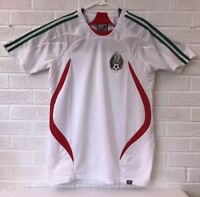 MEXICO Soccer Futbol Jersey Shirt Short Sleeve Men's Size Small White