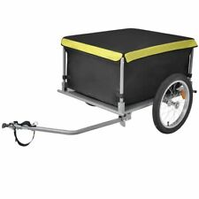 vidaXL Bike Cargo Trailer Black and Yellow 65kg Foldable Bicycle Stroller