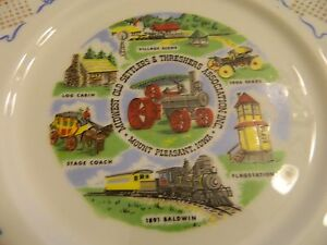 1972 Midwest Old Settlers & Threshers Assoc. Mt Pleasant IOWA COLLECTOR PLATE
