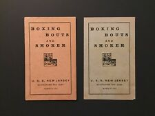 BOXING BOUTS AND SMOKER USS NEW JERSEY BB-16 1910 GUANTANAMO BAY CUBA PROGRAMS