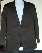 Theory 42R Black Cotton/Poly Sports Coat Blazer