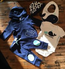 Baby Boy Gymboree Whale I Love Mommy Bodysuit pants Jacket Hat Outfit Nwt 3-6 M