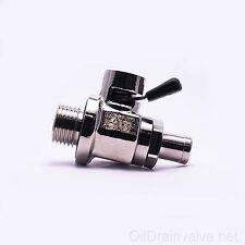 EZ Engine Oil Drain Valve EZ-108(16mm-1.5) & Straight Hose End H-001 COMBO PACK