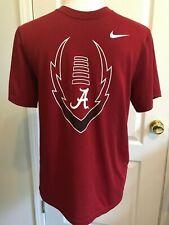 NIKE Dri-Fit ALABAMA CRIMSON TIDE Boys T-Shirt Crimson Short Sleeve Size L