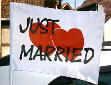2 Stck Autoflagge Hochzeit Just Married Fahne Auto Autodeko Deko Wedding Herz