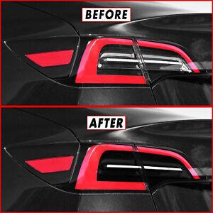 FOR 17-21 Tesla Model 3 Tail Light w/ Reverse & Signal Cutout SMOKE Precut Tint