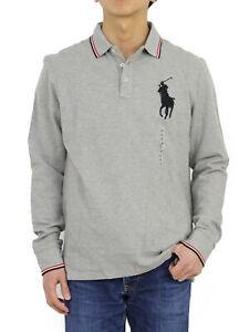 Polo Ralph Lauren Big Pony Custom Fit LS Long Sleeve Solid Polo Shirt - 5-colors